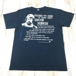 Other - Chuck Norris tee blue size medium